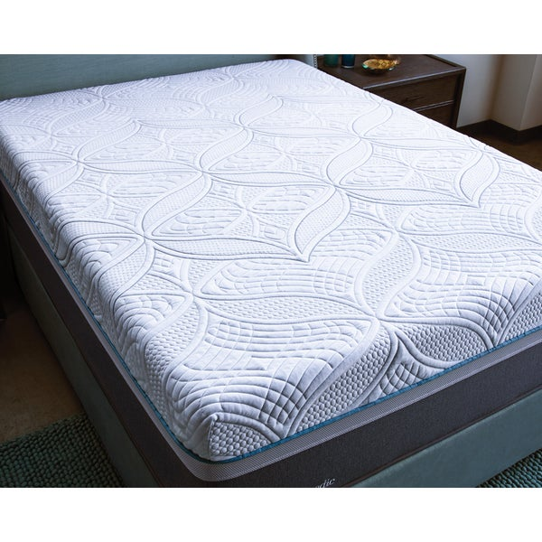 Shop Sealy Posturepedic Hybrid Copper Cushion Firm Queen Size Mattress White Free Shipping
