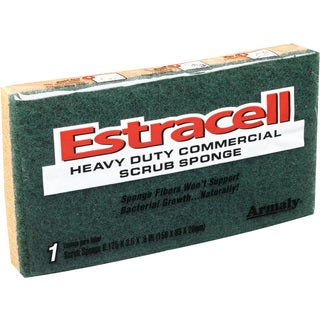 "Armaly Brands 21006 6.125"" x 3.5"" x .8"" Large Estracell Heavy-Duty Scrub Sponge"