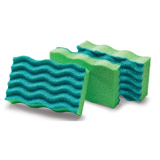 "Libman 1079 4-1/2"" L X 3"" W Anti-Bacterial Sponge Pack 3-count"