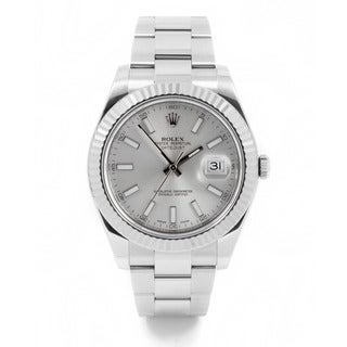 Pre-Owned Rolex Men's Stainless Steel and 18k White Gold Datejust II Watch