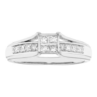 Sofia 10k White Gold 1/3ct TDW Diamond Ring