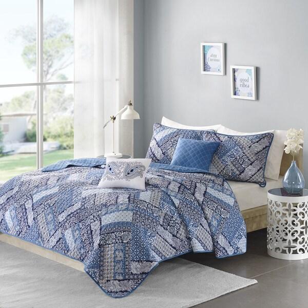 Intelligent Design Remy Blue 5-piece Coverlet Set