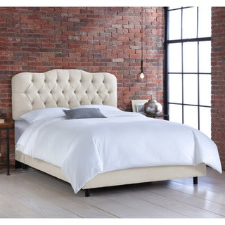 Skyline Tufted Talc Linen Bed