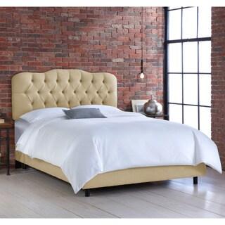 Skyline Sandstone Tufted Linen Bed