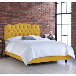 Skyline French Yellow Tufted Linen Bed