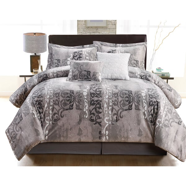 Tia Oversized and Overfilled Micro Mink 6-piece Queen-size Comforter Set