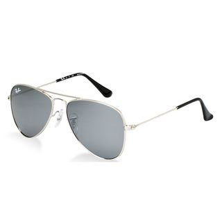 Ray-Ban Junior Kids RJ9506S-212/6G Aviator Silver Mirror Sunglasses