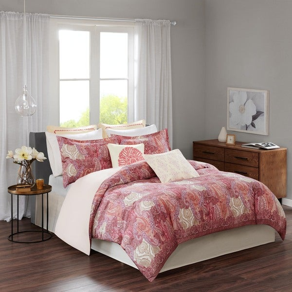 Echo Design™ Florentina Pink Cotton Comforter Set