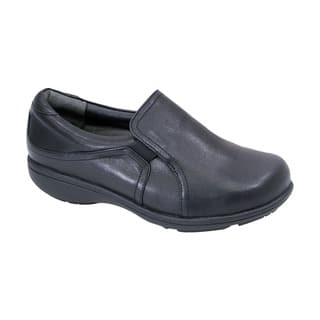 FIC 24-hour Comfort Therese Women's Adjustable Extra Wide Width Leather Comfort Everyday Loafer|https://ak1.ostkcdn.com/images/products/12521060/P19326585.jpg?impolicy=medium