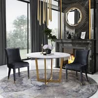 Maxim White Marble Dining Table - Antique White