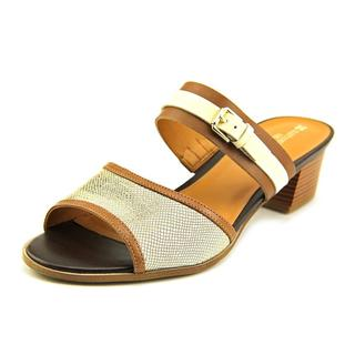 Naturalizer Women's Cadie Brown Leather Sandals