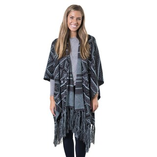 MUK LUKS Women's Knit Fringed Ruana