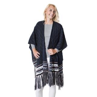 Muk Luks Women's Blue Acrylic Knit Ruana with Fringe https://ak1.ostkcdn.com/images/products/12521436/P19326632.jpg?impolicy=medium