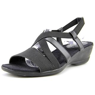 Life Stride Women's Allure Black Fabric Sandals