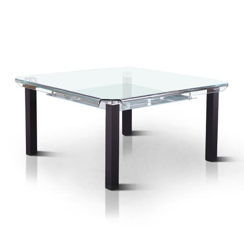 Furniture of America Bace Contemporary Black 59-inch Dining Table