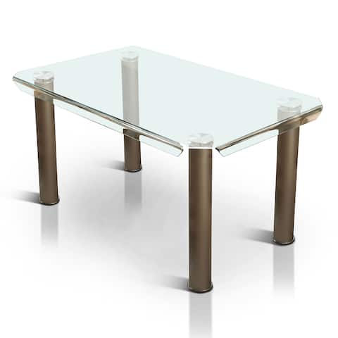 Furniture of America Rini Contemporary 59-inch Metal Dining Table