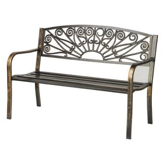 Trademark Innovations Starburst Design Steel Garden Bench