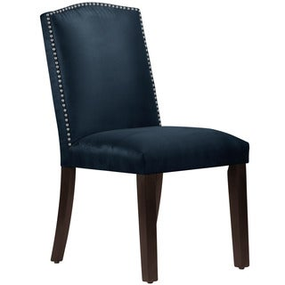 Skyline Furniture Nail-head Premier Navy Arched Dining Chair