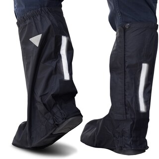 Oxgord Black Nylon Deluxe Motorcycle and Powersport Rain Boot Covers