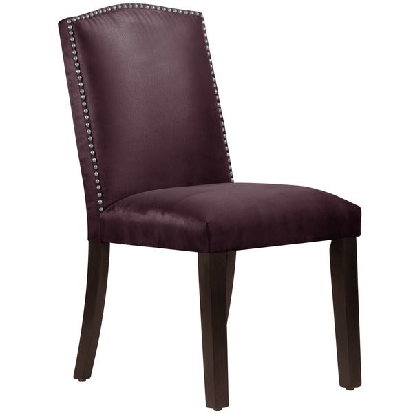 Skyline Furniture Premier Purple Nail Button Arched Dining Chair Free Shipp