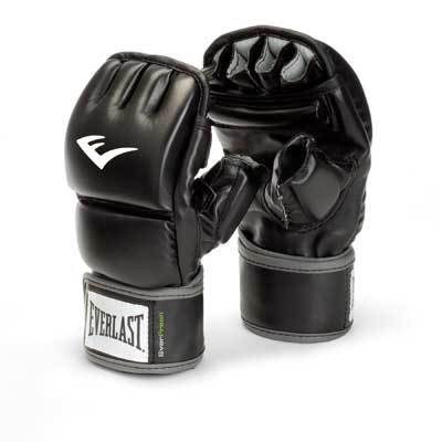 Everlast Black Faux-leather Wrist Wrap Heavy Bag Gloves