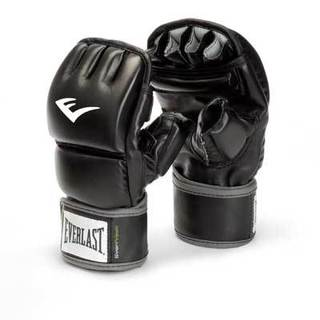 Everlast Black Faux-leather Wrist Wrap Heavy Bag Gloves