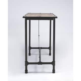 Caitlin Rustic Oak and Metal Bar Table. Wood Bar   Pub Tables For Less   Overstock com