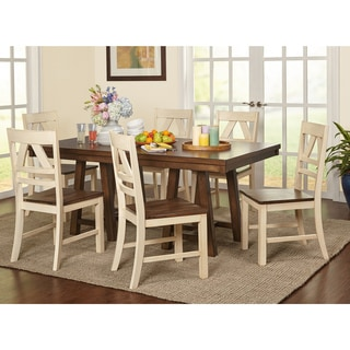 Simple Living Harold Farmhouse Wood Dining Set  sc 1 st  Overstock.com & Farmhouse Kitchen \u0026 Dining Room Tables For Less | Overstock.com