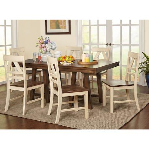 Simple Living Harold Farmhouse Wood Dining Set