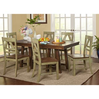 Simple Living Harold Farmhouse Wood Dining Set 4 Options Available