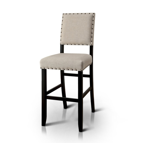 29 Inch Vintage Wood Bar Stool Dining Chair Counter Height: Furniture Of America Telara Contemporary Antique Black 30