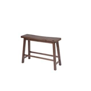 Sonoma Wood Saddle Dining Bench (Light brown)