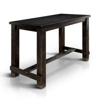 Furniture of America Telara Contemporary Antique Black Bar Height Table