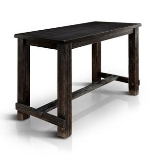 Exceptionnel Furniture Of America Telara Contemporary Antique Black Bar Height Table