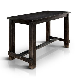 Perfect Furniture Of America Telara Contemporary Antique Black Bar Height Table