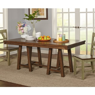 Simple Living Harold Wooden Dining Table   Oak