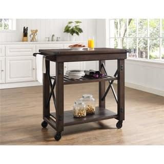 Altra Wildwood Mahogany Wood Veneer Multi-purpose Rolling Cart|https://ak1.ostkcdn.com/images/products/12521564/P19327003.jpg?impolicy=medium