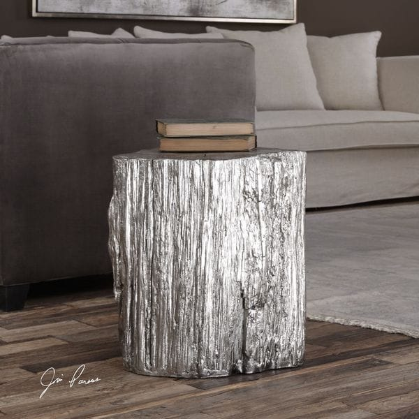 Etonnant Cambium Silver Tree Stump Stool