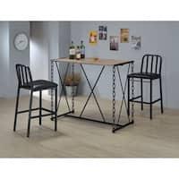 Jodie Black Wood/Metal/Faux-leather 2-chair Bar Set