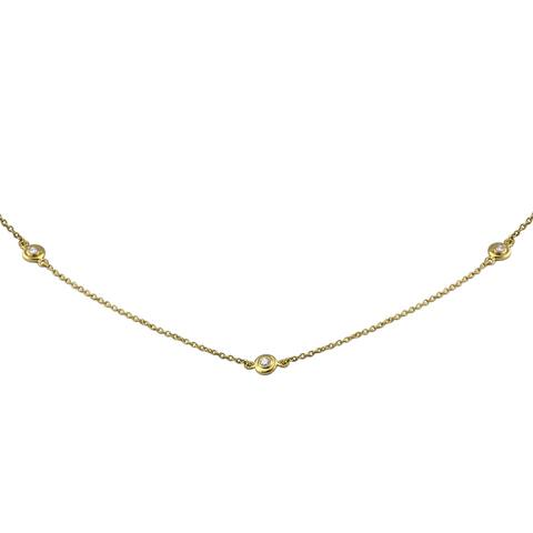 14k Gold 1/4ct TDW Diamonds 20 Inch Necklace