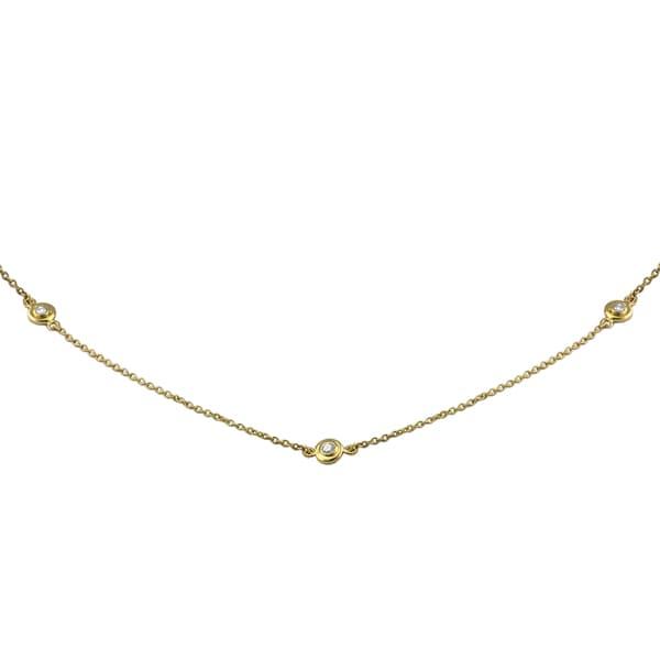 b902b949e64cf Shop 14k Gold 1/4ct TDW Diamonds 20 Inch Necklace - On Sale - Free ...