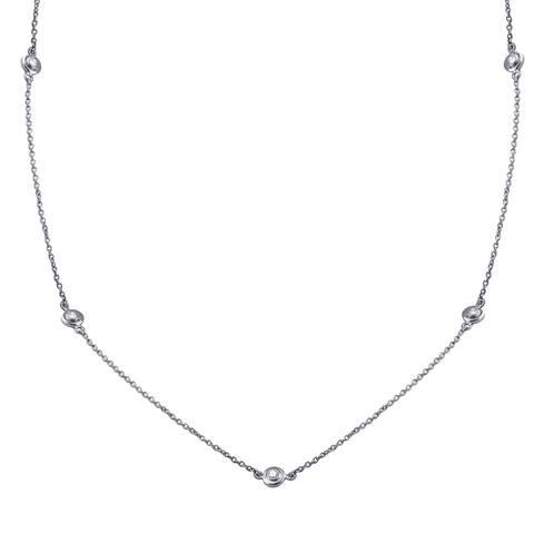 14k Gold 1/3ct TDW Diamonds 22 Inch Necklace - White