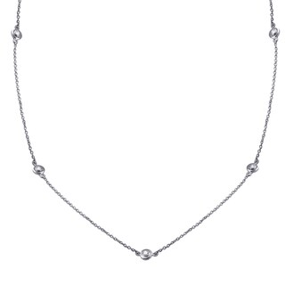 14k Gold 1/3ct TDW 22 Inch Diamond Necklace - White