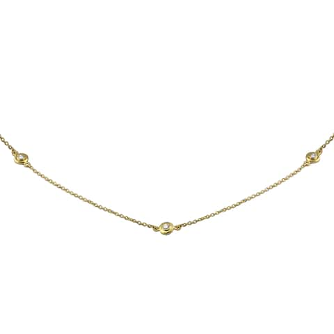 14k Gold 1/5ct TDW Diamond Necklace 16 Inch