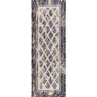 "M.A.Trading Hand-woven Corona Charcoal/Grey (2'6""x8')"