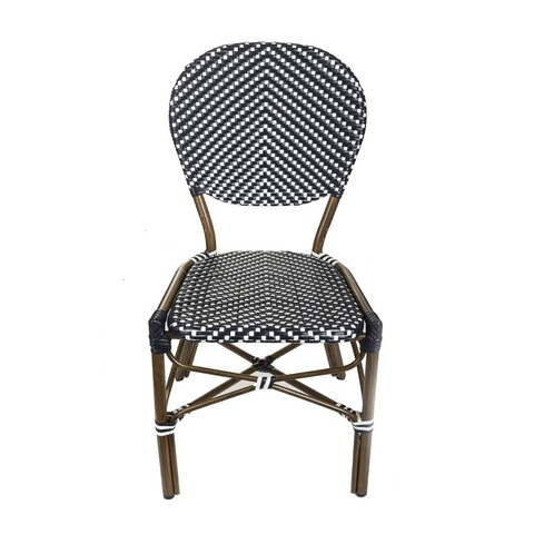 TIAB Black & White Finish Cafe Bistro Chair
