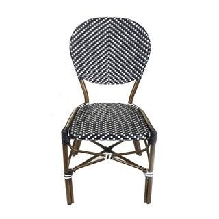 TIAB Black & White Finish Cafe Bistro Chair