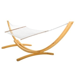 Hatteras White Polyester Rope Single-person Hammock