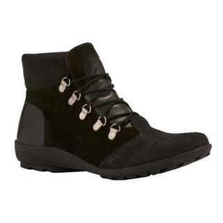 Women's Walking Cradles Hemingway Bootie Black Textured Multi