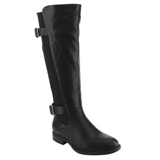 DE BLOSSOM COLLECTION GE13 Women's Elastic Wide-calf Riding Boots Half Size Big